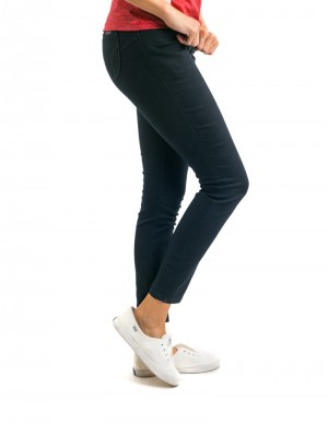 Freshgear Black Highwaist Denim Pants In Black