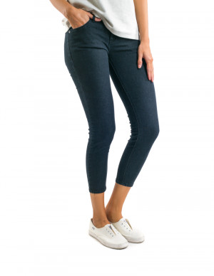Freshgear Low Skinny Ankle Pants in Dark Denim