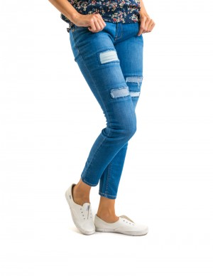 Freshgear Pacific Distressed With Under Patch Jeans In Blue
