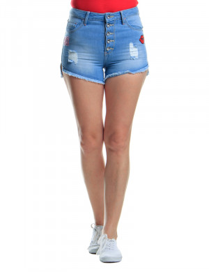 Freshgear Retro Highwaist Shorts In Blue
