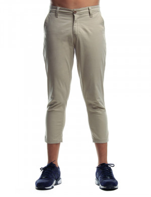 Freshgear Cropped Chinos W/ Belt In Pink