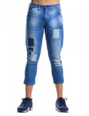Freshgear Cropped Jeans In Blue