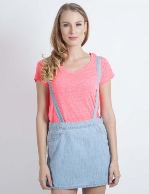 Freshgear Drapes Collection Vneck In Pink