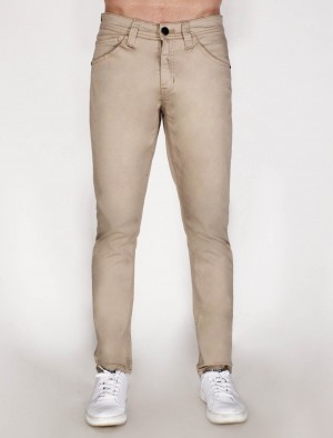 Freshgear Low Slim Skinny Basic 5 Pocket Pants in Khaki