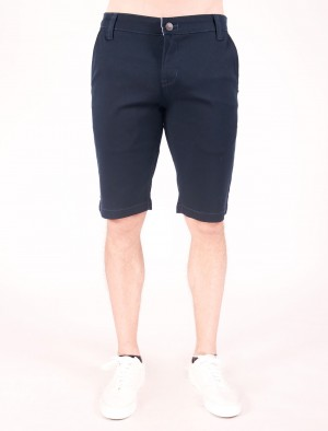 Freshgear by Rodeo Drive Low Rise Chinos Walking Shorts in Navy Blue