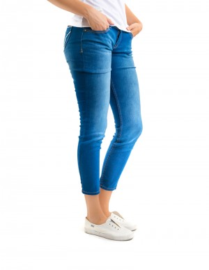 Freshgear Embroidered Bones Jeans In Blue
