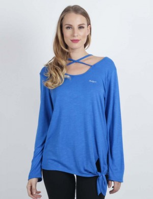 Freshgear Girls Long Sleeve Tee In Blue