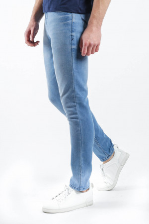 Freshgear Weatheredjeans W/ Stretch Heavy Denim In Blue