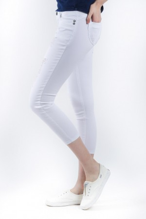 Freshgear White Distressed Jeans In White