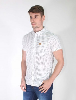 Freshgear White Printed Short Sleeves In White