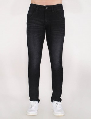 Freshgear Low Slim Skinny Basic 5 Pocket Jeans in Black