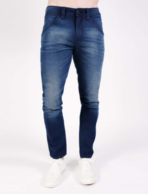 Freshegar Low Slim Skinny Basic Five Pocket Jeans in Blue