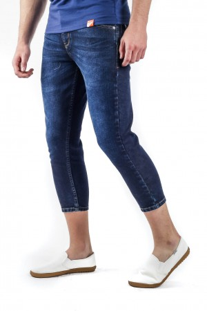 Utility Pocket  Low-rise Slim Jeans in Premium Stretch blue