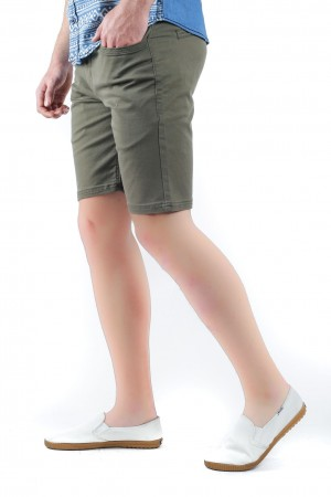 Freshgear Low Rise Chinos Walking Shorts in Denim Blue