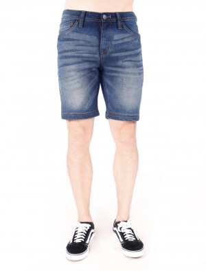 Freshgear by Rodeo Drive Basic Five Pocket Denim Shorts in Dark Blue
