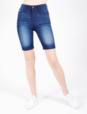 Freshgear by Rodeo Drive High Skinny Shorts in Dark Wash