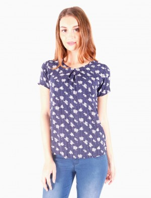 Freshgear by Rodeo Drive Rayon Shortsleeves with Floral Print in Blue