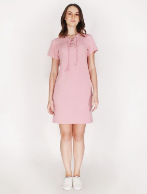 Rifle by Rodeo Drive Dress W/Drawstring Details In Old Rose